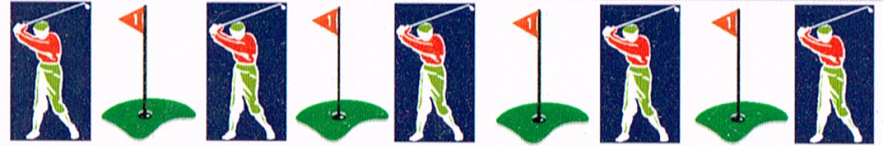 Golf-Grußkarten